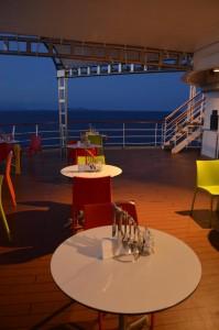 Aussenplätze Büffetrestaurant Deck 11/Heck